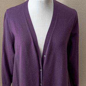Lands' End 3/4 Sleeves Cardigan, Size 1X